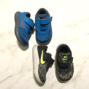Bundle of 2 Nike Slip On Velcro Baby Sneakers 6
